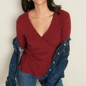 Old Navy Red Wrap Sweater